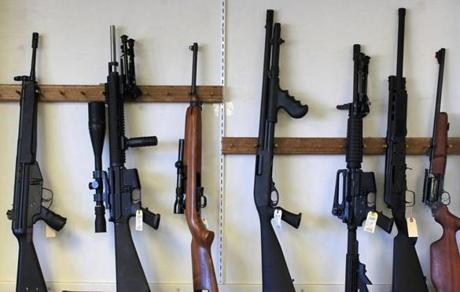 Just a few days ago guns were seen on the walls of Northeast Trading Co.